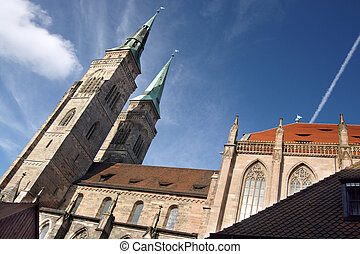 Ancient Nuremberg - Ancient Sebaldus Kirche in Nuremberg...