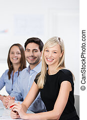 Successful business team in a meeting