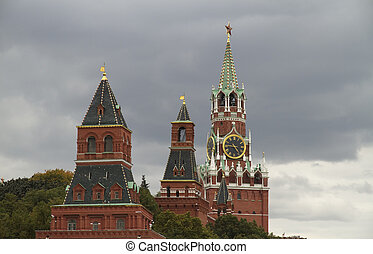 Russia, Moscow Kremlin towers - Russia, Moscow, view of...