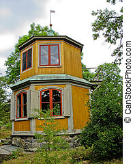 Swedish red and yellow cabin - Red and yellow cabin in...