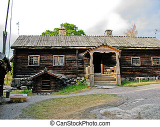 Old swedish ecological cabin