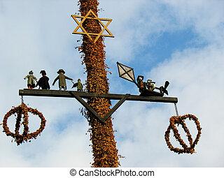 Midsummerfest flagstaff Sweden