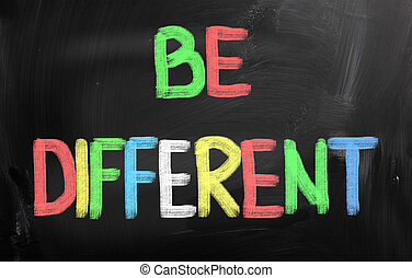Be Different Concept