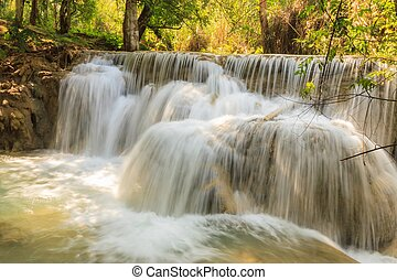 Kuang Si waterfalls at Laos.