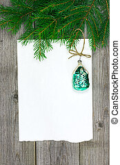 Christmas card with retro bauble