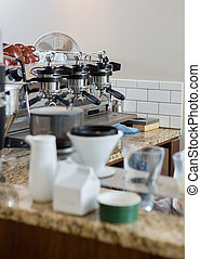 Coffeemaker In Coffeeshop - Coffeemaker on counter in...