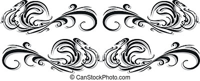 decorative tattoo - Vector - Vector scroll ornament