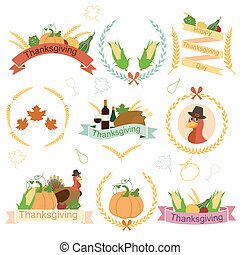 Happy Thanksgiving - easy to edit vector illustration of...