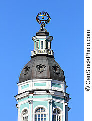 tower of Kunstkammer in  St. Petersburg Russia