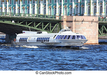 meteor - hydrofoil boat in St. Petersburg - meteor -...
