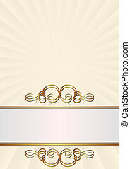 creamy background with golden ornaments