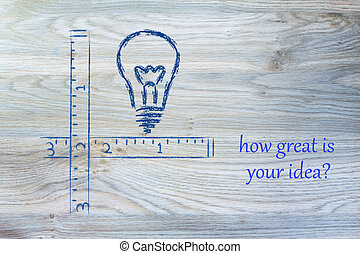 how great is your idea? - conceptual design measuring...