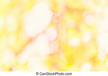 Orange color bokeh. Gold abstract christmas background