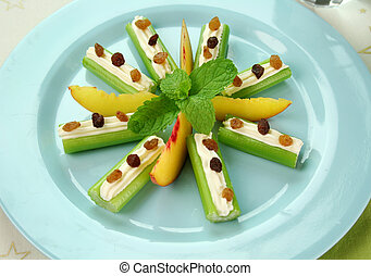 Healthy Afternoon Snack - Healthy afternoon snack of celery...