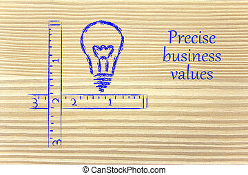 keep your business values precise and clear - conceptual...