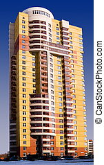 High-rise buildings - New high-rise residential building of...