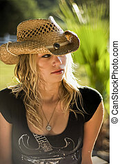 Country girl portrait - Female teenager of 18 years,...