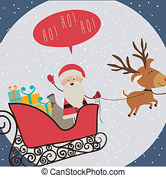 christmas design over blue background vector illustration