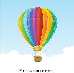 Vector rainbow air ballon background