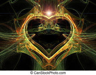 Abstract multi-coloured heart. - Abstract multi-coloured...