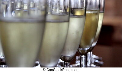 Up-close Image of the Sparkling Champagne glasses - An...