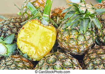 Fresh pineapple in the market.