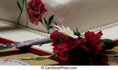 Fresh Flowers for Cake Design - Fresh red and white flower...