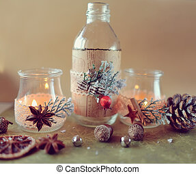 Christmas composition - New Year's still life beautiful...