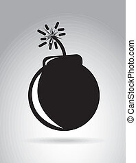 Bomb design over gray background vector illustration