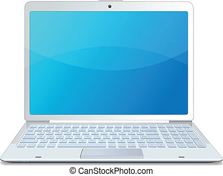 Vector laptop isolated white