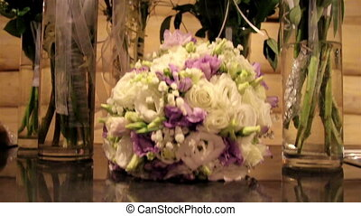 Bouquet of flowers arranged for an event - Different...