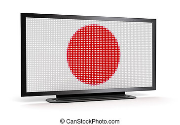 TV with Japanese Flag