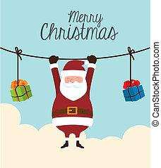 christmas design - christmas design over sky background...