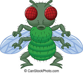 Fly cartoon character - Vector illustration of Fly cartoon...
