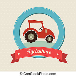 agriculture label over white background vector illustration...
