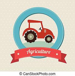 agriculture label over white background vector illustration...