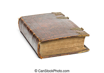 Antique Book - Bible - isolated on white