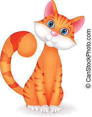 Cat cartoon character - Vector illustration of Cat cartoon...