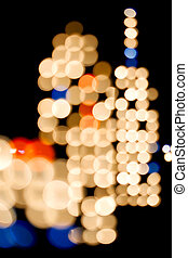 City Lights - Vertical - Abstract - Series of City Lights on...