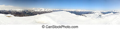XXXL panorama of the Alps - Superb panoramic view of the...