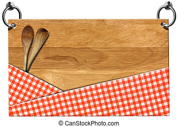 Cutting Board - Signboard with clipping path - Cutting board...