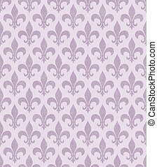 Pink Fleur De Lis Textured Fabric Background that is...