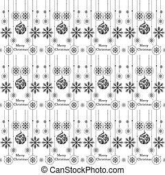 Merry Christmas Pattern - background of seamless christmas...