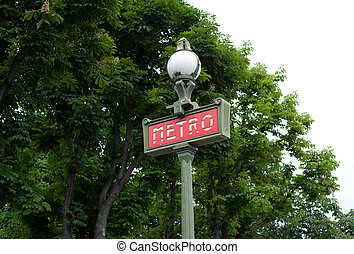 metropolitain - Metropolitain sign in Paris