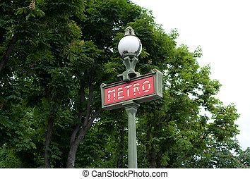 metropolitain - Metropolitain sign in Paris