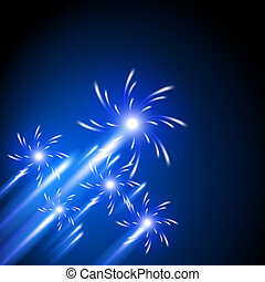 Firework - Glowing background with firework