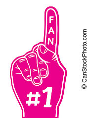 foam finger - fan finge