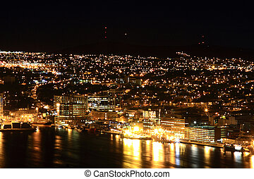 St. John's Newfoundland at Night - Night picture of St....
