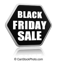 black friday sale black hexagon banner - black friday sale...