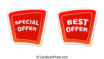 special and best offer in red banners - special and best...